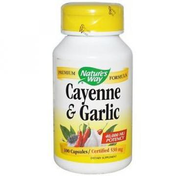 Cayenne & Garlic, 530 mg, 100 Capsules