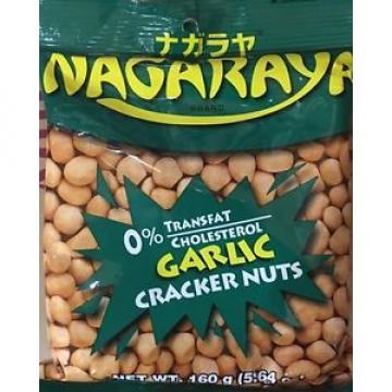 6 Nagaraya Garlic Flavor Cracker Nuts 160g