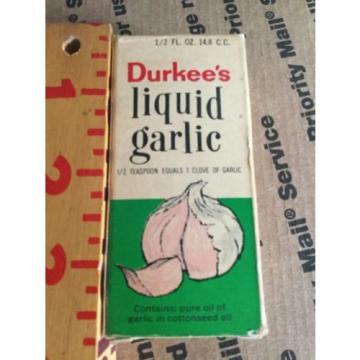Vintage Durkee's Liquid Garlic