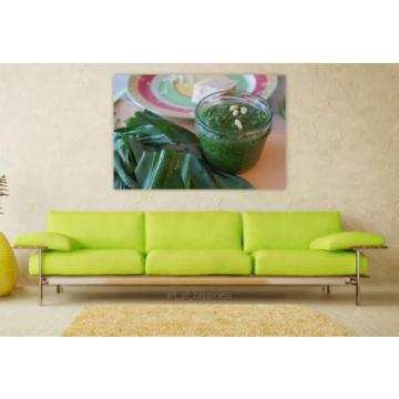 Stunning Poster Wall Art Decor Bear S Garlic Pesto Pine Nuts Oil 36x24 Inches