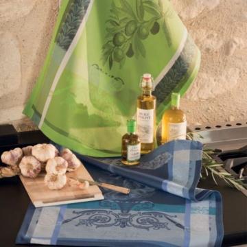 Garnier Thiebaut French Country Kitchen Dish Tea Towel AIL GARLIC Food New 2017