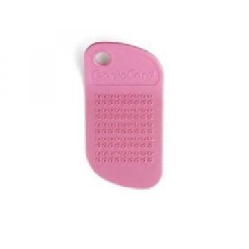 GarlicCard - Garlic Grater - Dishwasher Safe - Plastic - Pink
