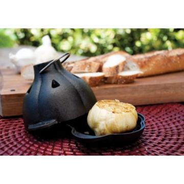 New Charcoal Companion Cast Iron Garlic Roaster & Squeezer Set