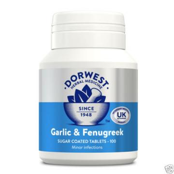 Dorwest Garlic & Fenugreek Tablets, 100's, 200's or 500's Herbal Medicines
