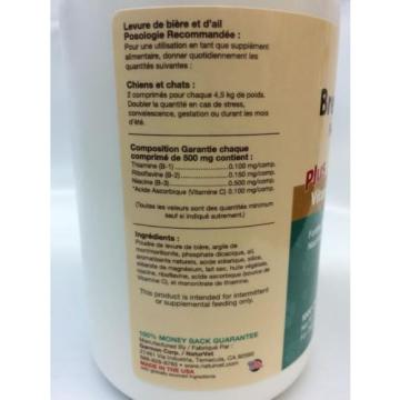 NaturVet BREWERS DRIED YEAST With Garlic Omega 3 and 6 Dogs and Cats 1000 tab