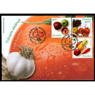 2017 Garlic,Grapes,Tomato,Hot Peppers,Apples,FOOD,Live Healthy,Romania,6621,FDC