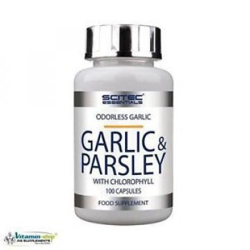 Scitec Essentials Odorless Garlic & Parsley with Chlorophyl 100 Caps Free P&P