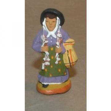 NEW Woman carrying garlic  4 cm Santons Fouque
