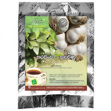 Karapincha / Garlic Herbal 10 Tea Bag  (Curry Leaf+Garlic/Murraya Koenigii/All )