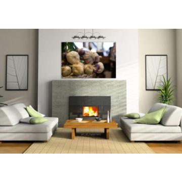Stunning Poster Wall Art Decor Garlic Market Food Vegetarian 36x24 Inches