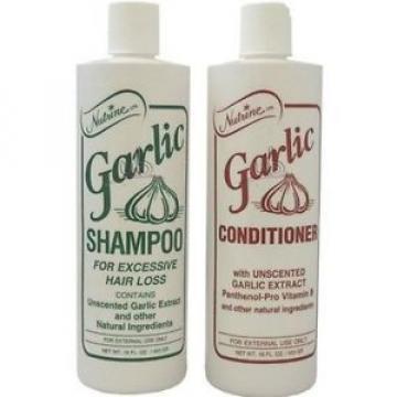NEW Nutrine Garlic Shampoo + Conditioner Combo Set Unscented 16 oz by Vidimear