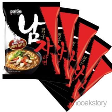 [PalDo] Namja Ramen Beef Soup Flavor Garlic Hot Korean Food Noodles 115 g × 5 ea