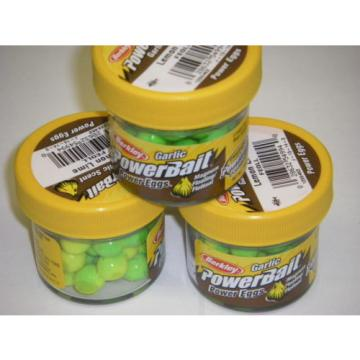 Berkley Powerbait Magnum Power Eggs 3 pack FEGLL Lemon Lime GARLIC Trout Bait