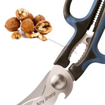 AnySharp 5 in 1 Scissors Bottle Opener Wire Stripper Nutcracker Garlic Crush