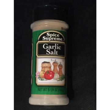 Garlic Salt by Spice Supreme Quality Spices Made in USA  5 1/4 Oz NEW