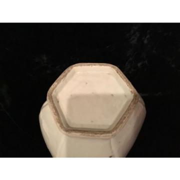"Antique Chinese Qianlong period 18thC 10"" Garlic neck fluted porcelain vase"