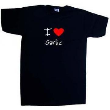 I Love Heart Garlic V-Neck T-Shirt