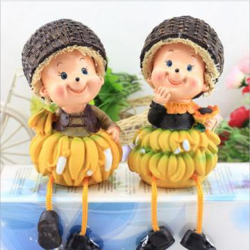 Home Kitchen Decor Vegetable Fruit Grape Sister Shelf Sitter Resin Figurine Gift