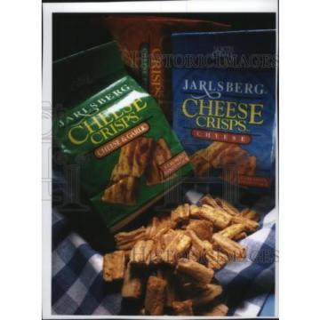 1994 Press Photo Jarlsberg Cheese Crisps in Cheese and Cheese and Garlic