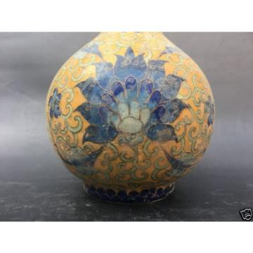 Beautiful Chinese porcelain. Pinch silk flower grain lines garlic bottles