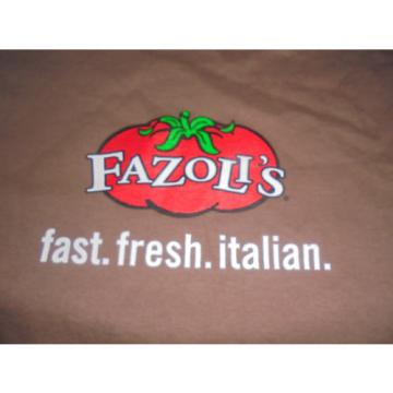 Fazoli's shirt size Medium M Garlic Powered Italian Food Advertising Spaghetti
