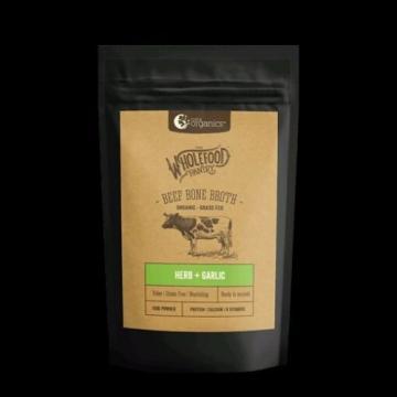 Beef Bone Broth Powder - Herb & Garlic 100g by Nutra Organics. HEALTHY WHOLEFOOD