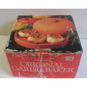 Boston Warehouse Terra Cotta Original Garlic Baker 4 Bulb Capacity NEW