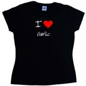 I Love Heart Garlic Ladies T-Shirt