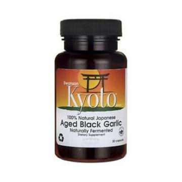 Swanson Kyoto Brand 100% Natural Japanese Aged Black Garlic 30 Cap