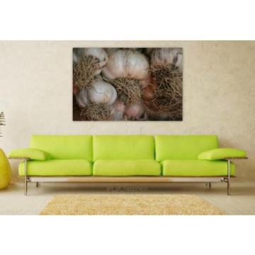 Stunning Poster Wall Art Decor Garlic Condiment Kitchen Flavor 36x24 Inches