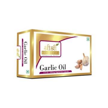 Garlic Oil Capsules HERBAL EDH Sri Sri Ayurveda 30 Caps   Free Shipping