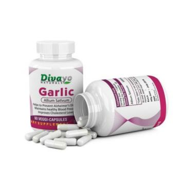 60 Capsules Garlic 500 mg Reduce Cholesterol Blood Sugar Increase Immunity