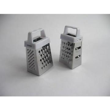 2 Mini Grater - 4 Sided Stainless Steel - Garlic/Nutmeg/Ginger/Chocolate