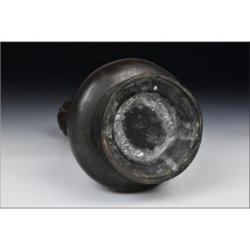 Chinese Ming Dynasty 15th  / 16th Century Bronze Garlic Top Vase