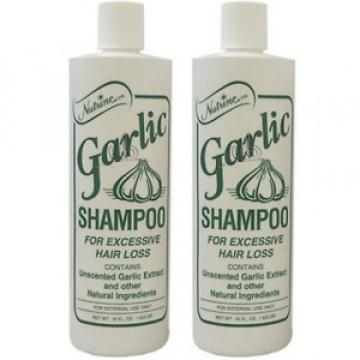 Nutrine Garlic Shampoo Unscented 16oz (Pack of 2)