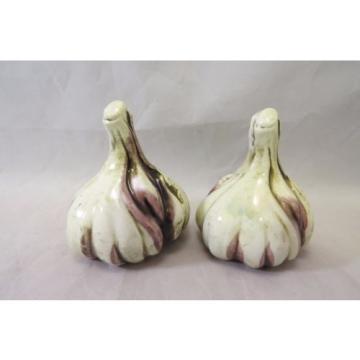 Vintage Inarco Japan Garlic Cloves Salt & Pepper Shaker Set Porcelain