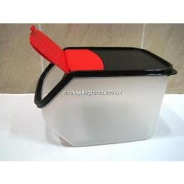 NEW TUPPERWARE LARGE GARLIC N ALL KEEPER VEG OUT 3.0L WITH BLACK/RED LID