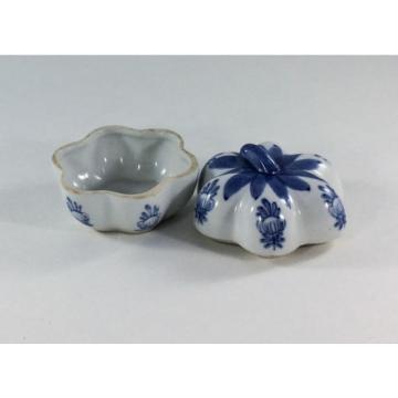 Blue and White Garlic Bulb Ring Box made in China