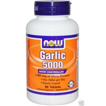 NEW NOW FOODS GARLIC 5000 TABLET ODOR CONTROLLED DIETARY SUPPLEMENT 90 Tablets