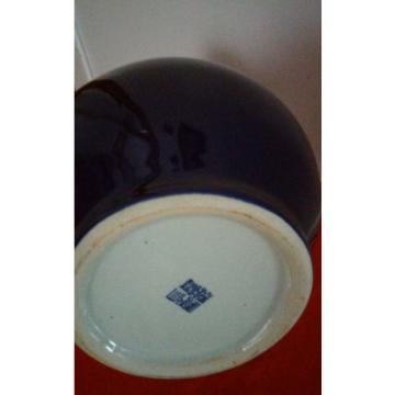 Big Vintage Chinese Monochrome Purple  Glaze  Porcelain Garlic Shap Vase