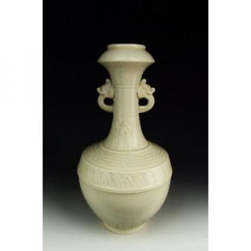 Chinese Antique Ding Ware Garlic Head Vase with Incised Pattern