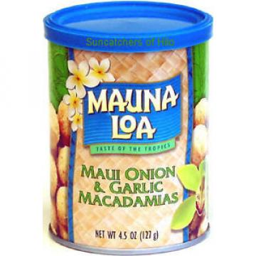 MAUI ONION GARLIC MAUNA LOA MACADAMIA NUTS 3 / 4.5 OZ CANS