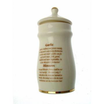Lesley Anne Ivory Cats Spice Jar Garlic