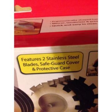 Rolling Mincer & Tenderizer W/ Garlic Press. Stainless Steel NIB