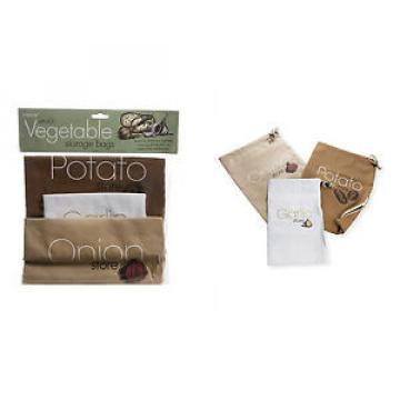 Onion Garlic Potato Storage Bags Cotton Zip Opening Keep Fresh Vegetable Fresher