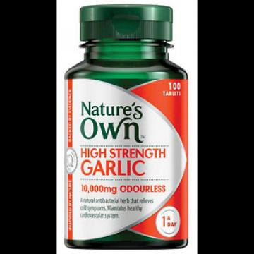 Nature's Own High Strength Garlic 10,000mg 100 Tablets