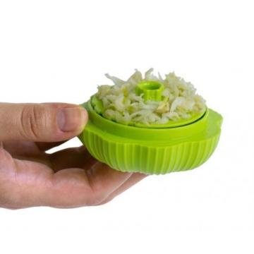 HIC The Garlic Chop Garlic Chopper, Lime Green. Free Shipping