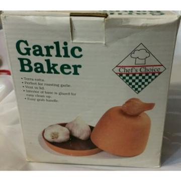 Vintage Chef's Choice Terracotta Garlic Baker - New in Box