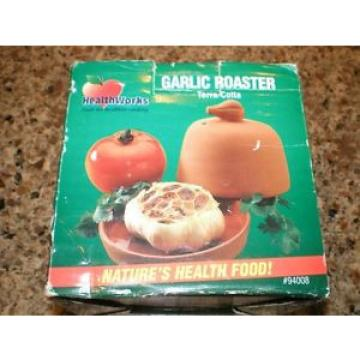 HealthWorks Terra Cotta Garlic Roaster New in Box
