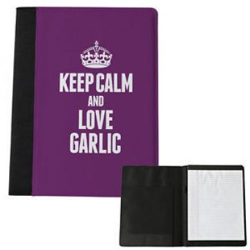 PURPLE Keep Calm and Love Garlic Large Notepad 1113